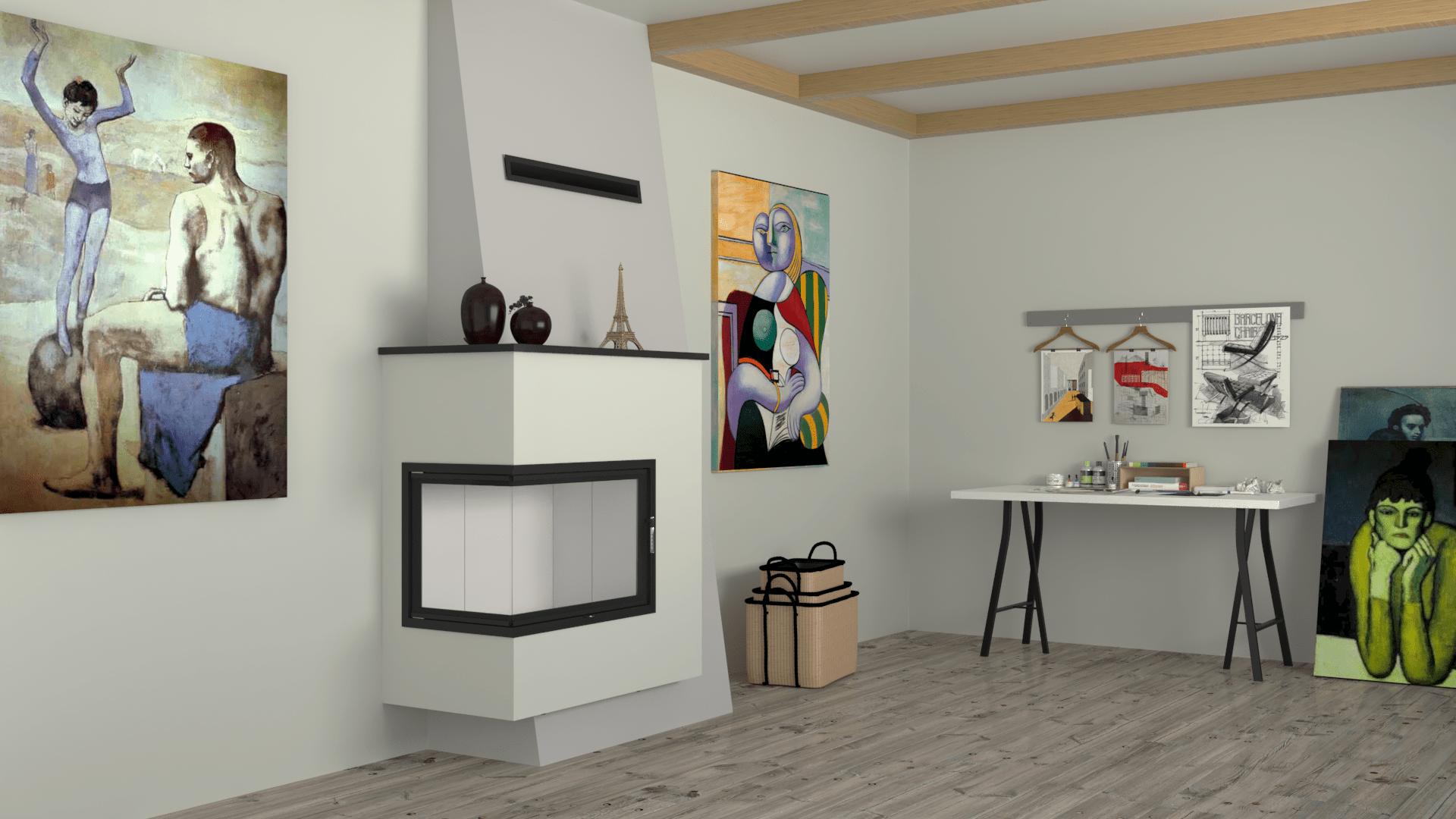 Ciepłe zabudowy kominków