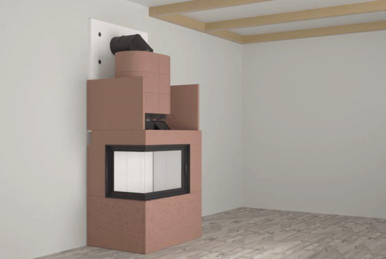 Budowa kominka ciepłego narożnego
