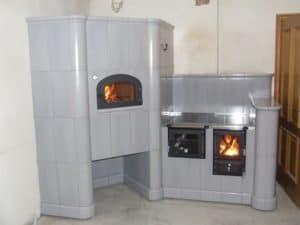 Kaflowy piec kuchenny Cebrat