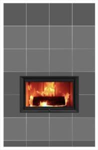 Czarny ciepły kominek