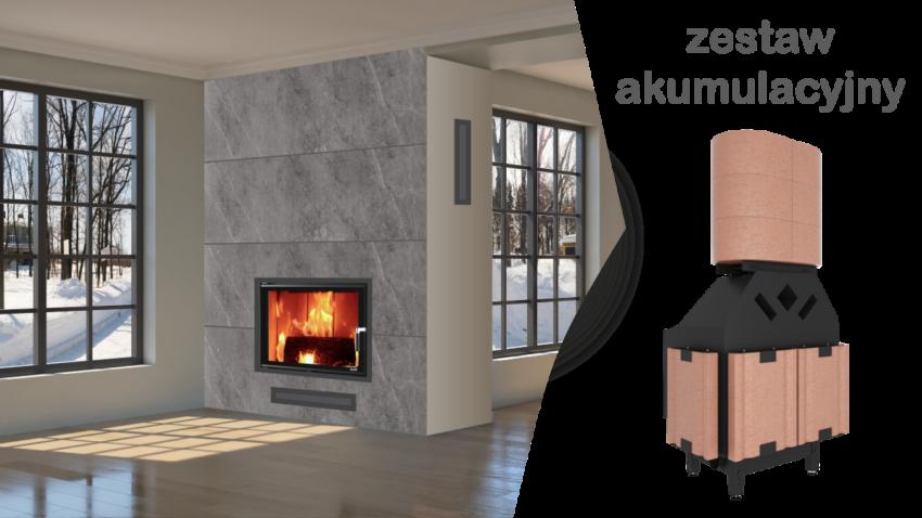 Akumulacja ciepła w kominku WIR