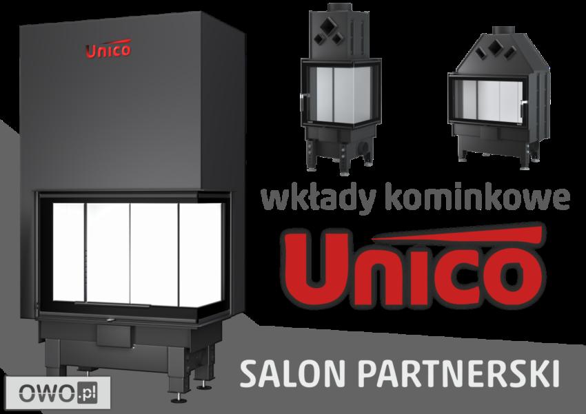 Wkłady kominkowe UNICO salon kominkowy