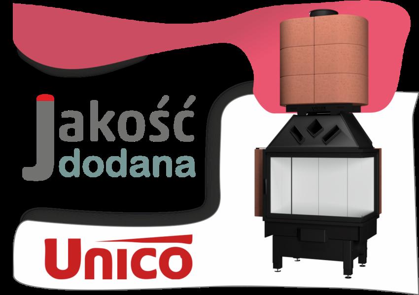 Akumulacja ciepła w kominku bocznym UNICO
