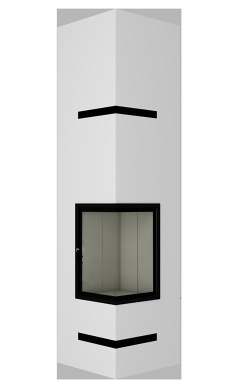 Pionowy boczny kominek WIR-8B