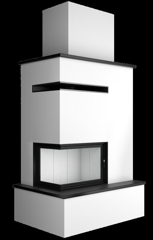 Projekty kominków bocznych
