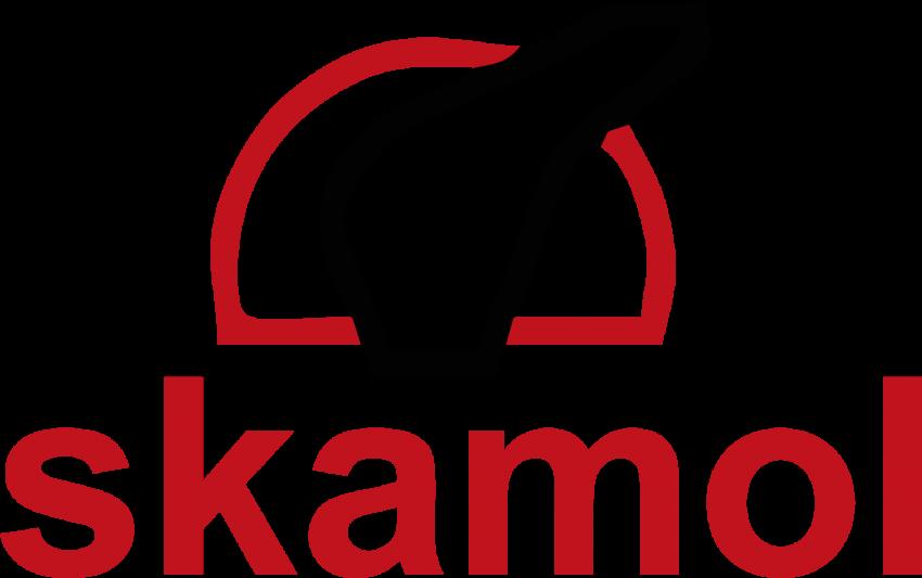 Skamol płyty do kominków, logo firmy