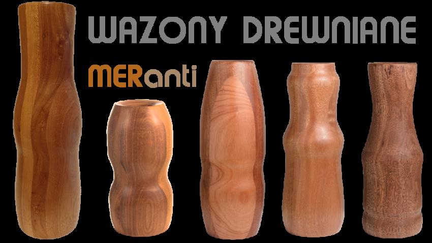 Wazony z drewna kolekcja Meranti