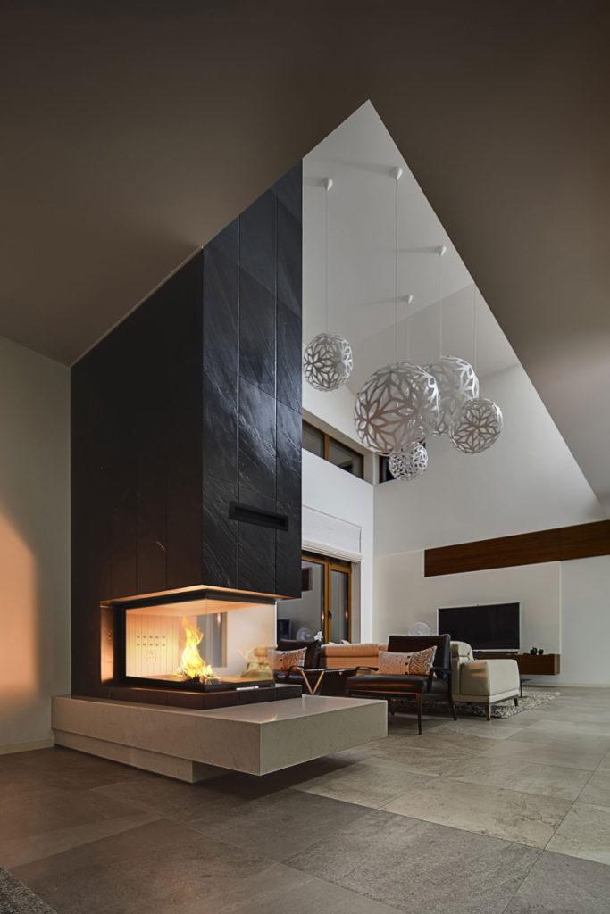 Projekty wzory kominków ciepłych