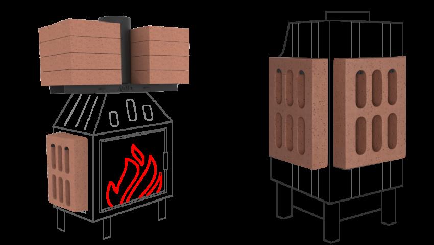 Moduły akumulacyjne do kominka