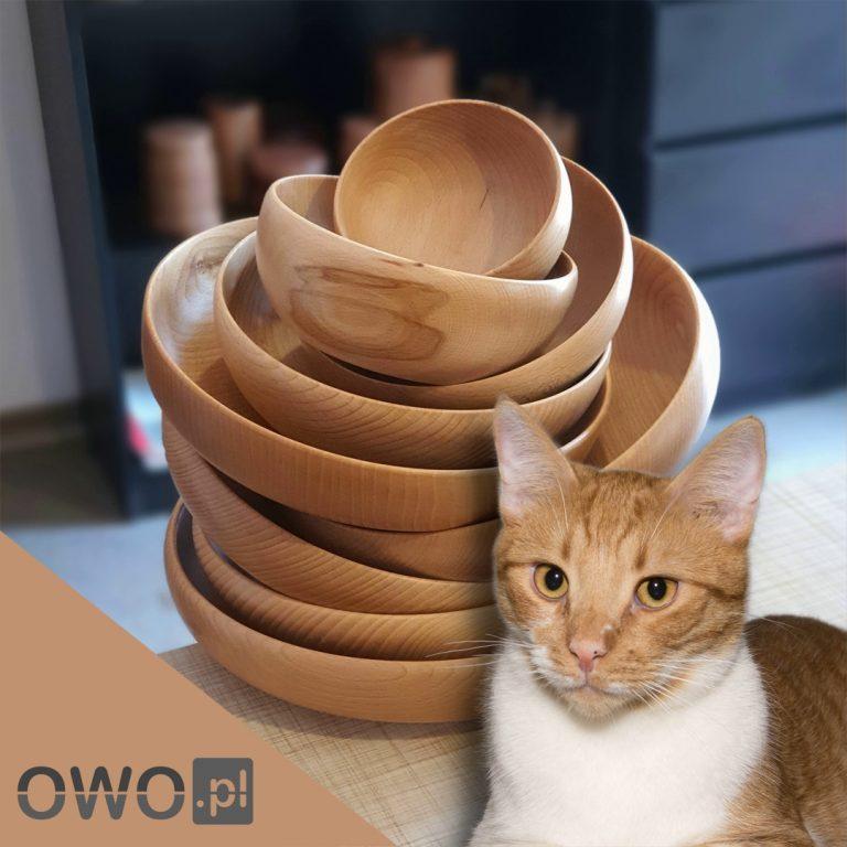 Ozdoby z drewno bukowe - miski